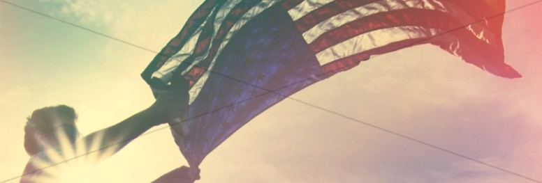 Independence Day Flag Religious Web Banner