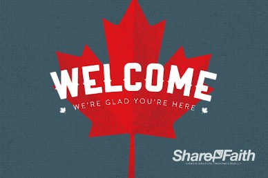 Canada Day Church Welcome Video Loop