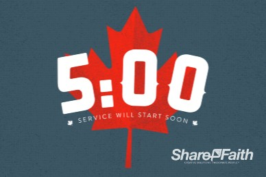 Canada Day Church Five Minute Countdown Video