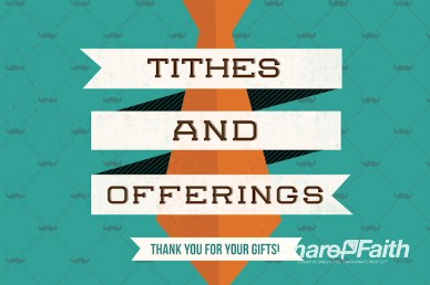 Father's Day Thanks Christian Tithes and Offerings Motion Video