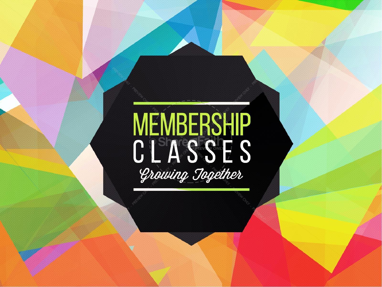 Membership Classes Church PowerPoint | slide 1