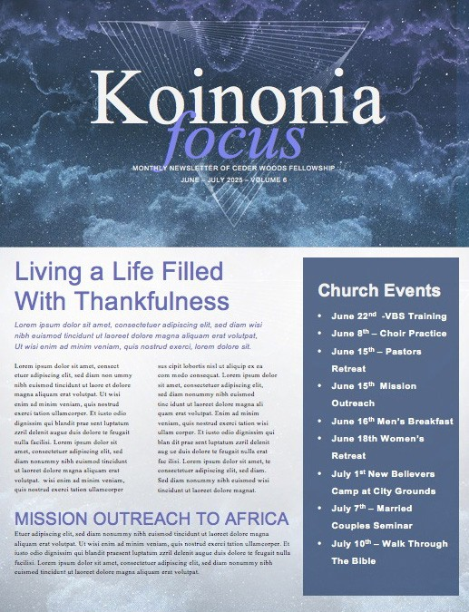 Miracles Faith to Move Mountains Ministry Newsletter