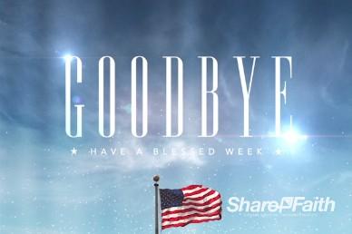 Memorial Day American Flag Goodbye Church Service Video Loop