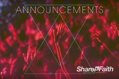 Hands Praise Worship Church Announcements Video