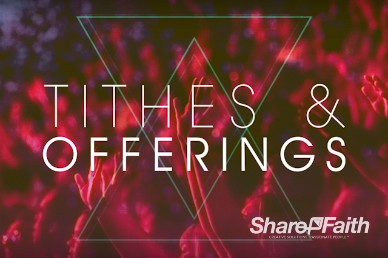 Night of Worship Church Tithes & Offerings Video Loop