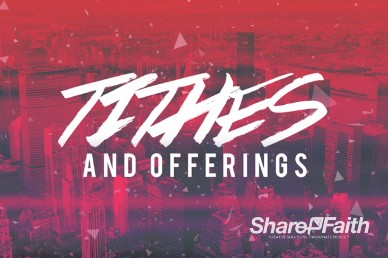 Red City Church Tithes and Offerings Video Loop