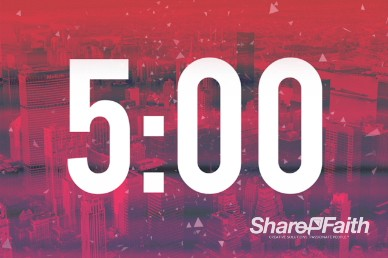 Red City Church 5 Minute Countdown Timer Video