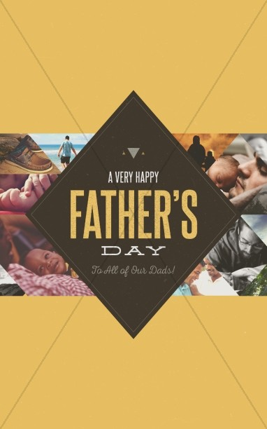 Happy Father's Day All Dads Christian Bulletin