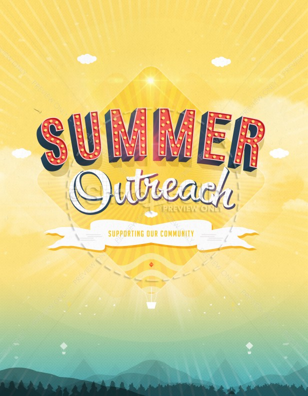 Summer Outreach Support the Community Ministry Flyer