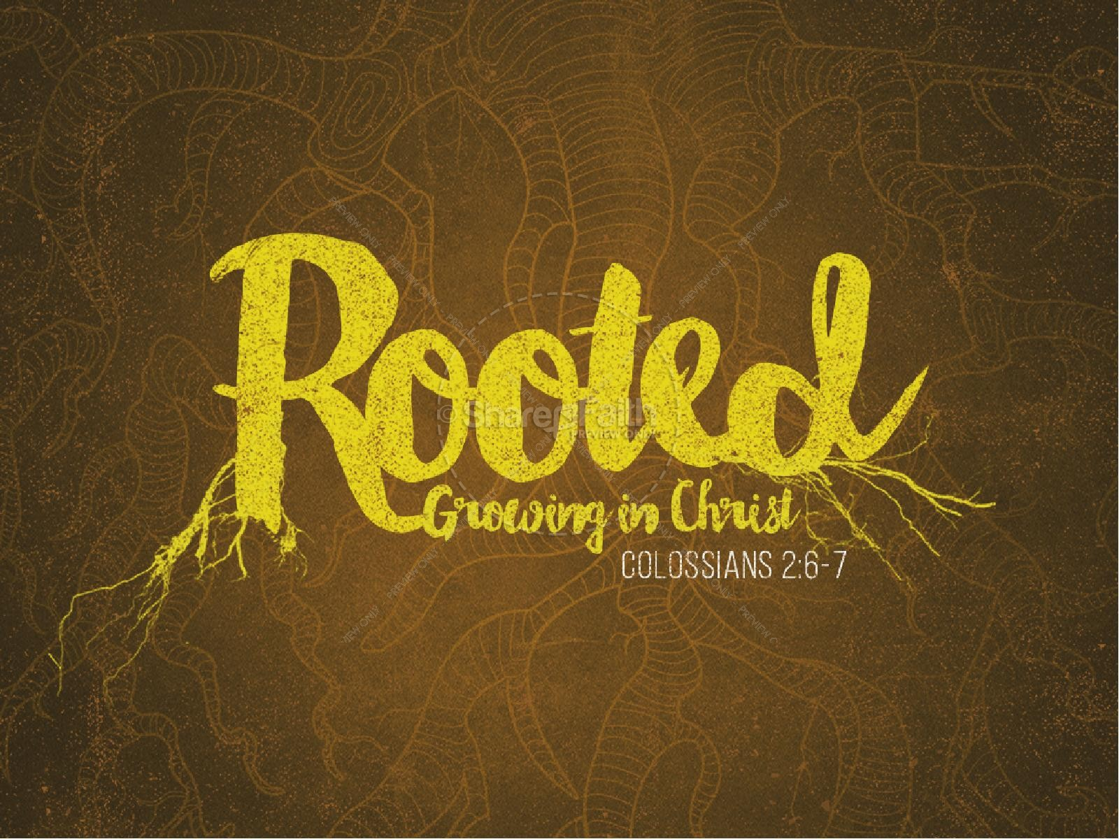 Rooted Ministry PowerPoint | slide 1