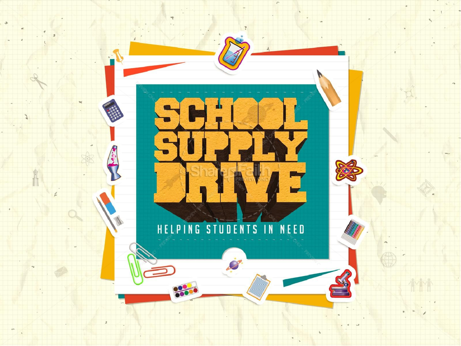 School Supply Drive Ministry PowerPoint