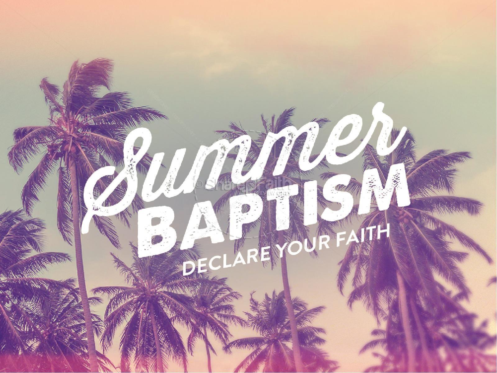 Summer Baptism Ministry PowerPoint | slide 1