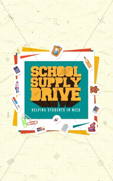 School Supply Drive Ministry Bulletin