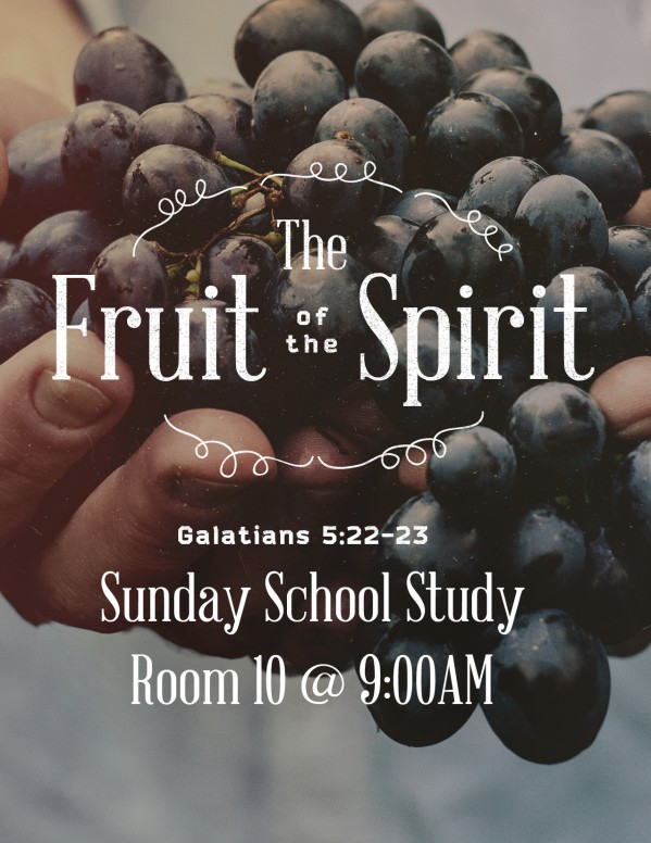 The Fruit of the Spirit Religious Flyer