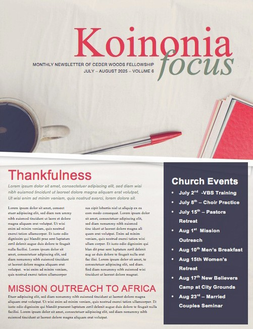 Study and Write Christian Newsletter