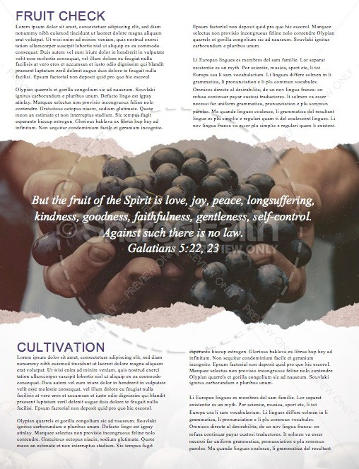 The Fruit of the Spirit Religious Newsletter | page 2