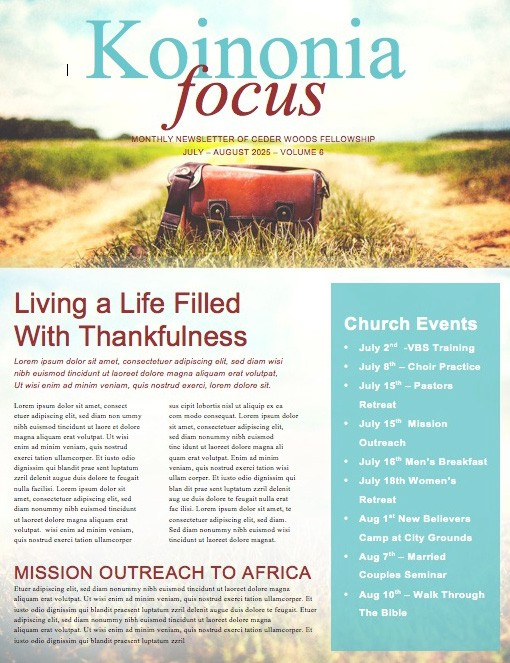 The Journey Ministry Newsletter