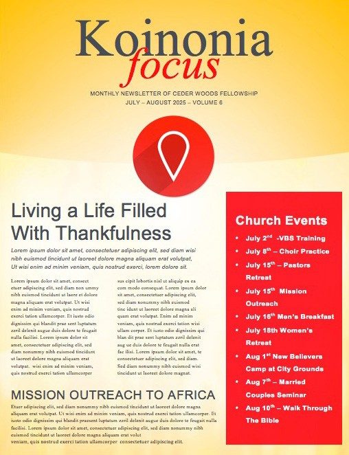 The Journey Ministry Newletter