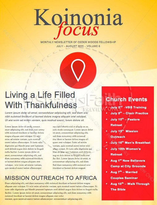 The Journey Ministry Newletter | page 1