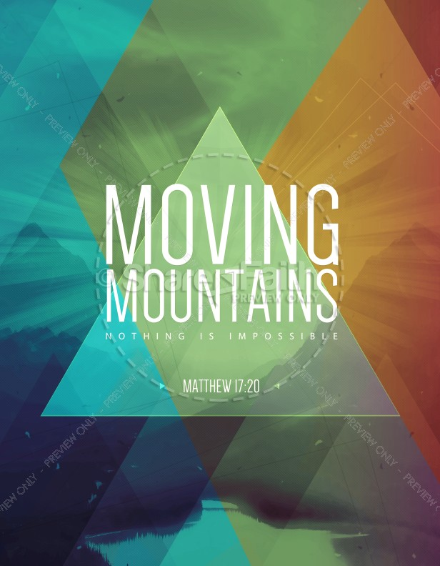 Moving Mountains Ministry Flyer Template Flyer Templates