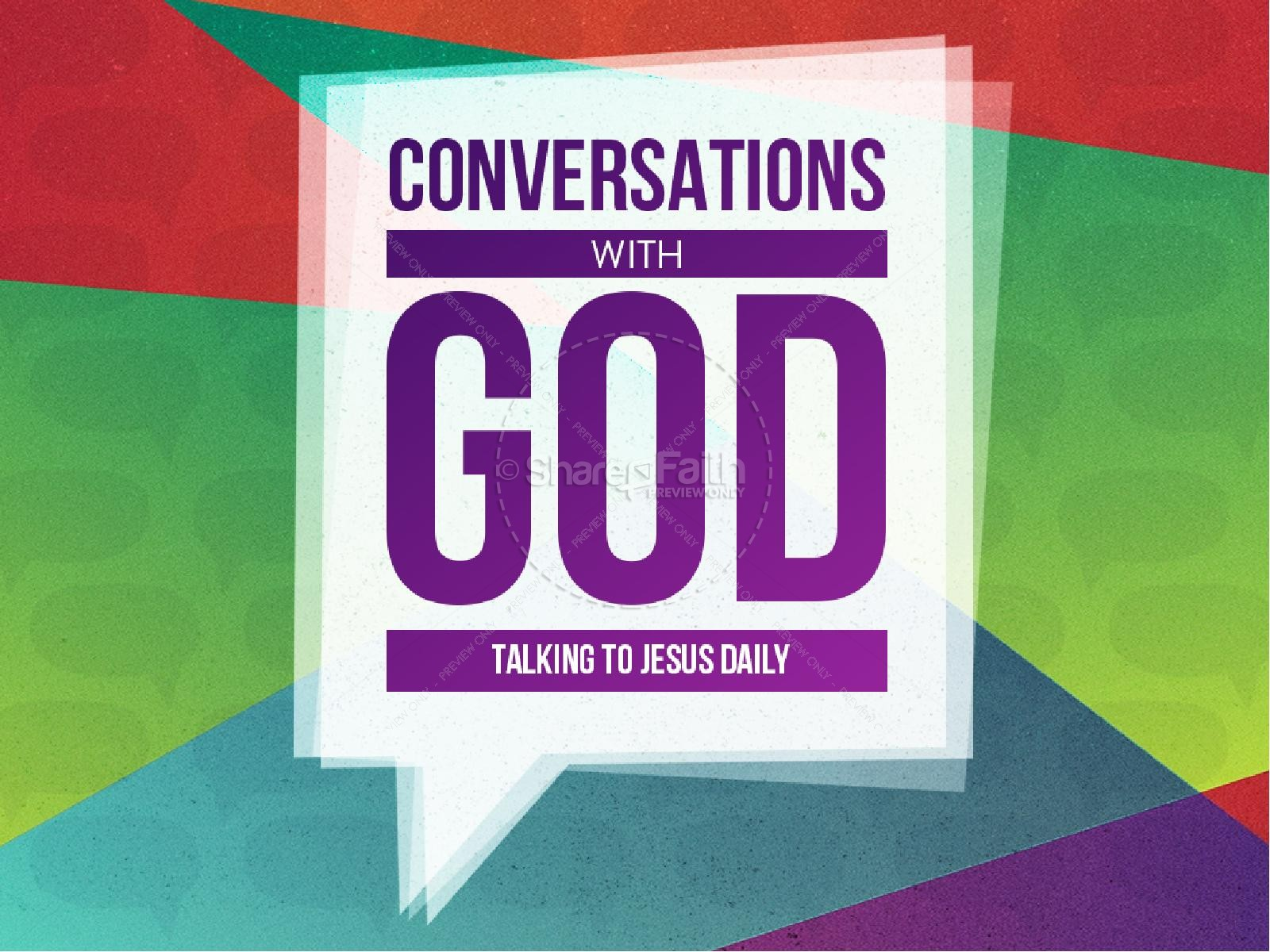 Conversations with God Christian PowerPoint | slide 1
