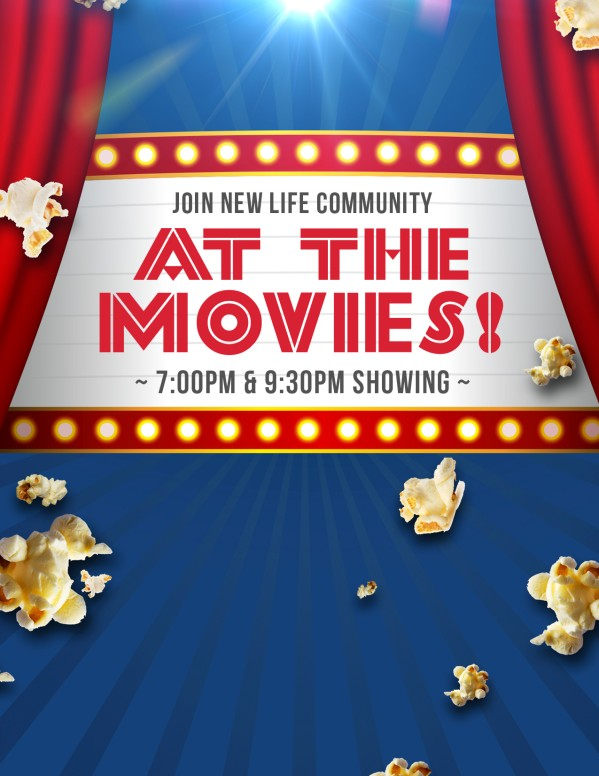 At the Movies Church Night Ministry Flyer