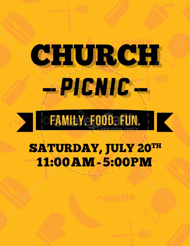 church picnic ministry flyer template flyer templates
