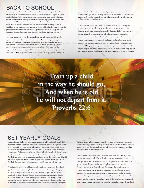 Back to School Power Christian Newsletter | page 2
