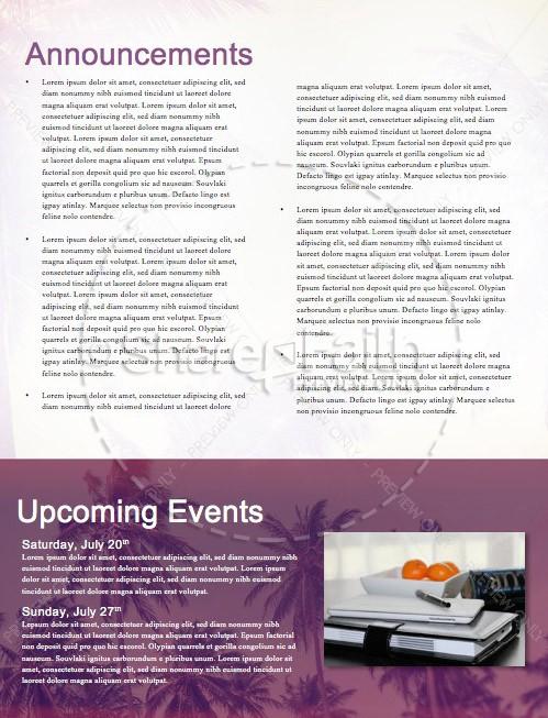 Summer Baptism Ministry Newsletter