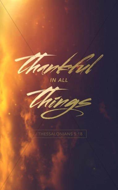Thankful in All Things Religious Bulletin