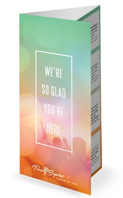 Spring Colors Audience Trifold Church Bulletin