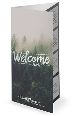 forest welcome church trifold bulletin tri fold church bulletins