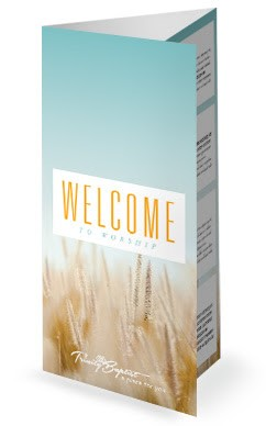 Summer Wheat Blues Trifold Ministry Bulletin