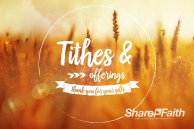 Bless the Lord Christian Tithes and Offerings Video Background
