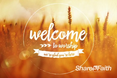 Bless the Lord Christian Welcome Motion Video