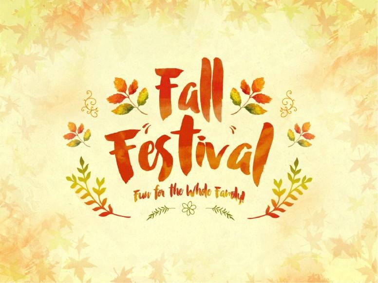 Fall Festival Family Fun Religious PowerPoint