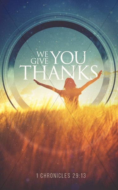 We Give You Thanks Christian Bulletin
