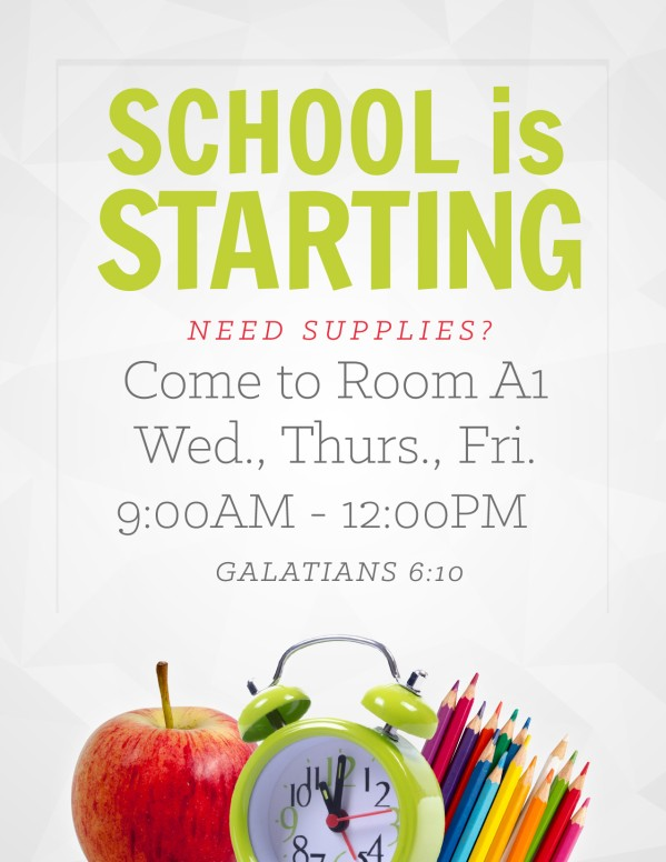 School is Starting Ministry Flyer
