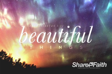 Beautiful Things Christian Title Motion Video Loop