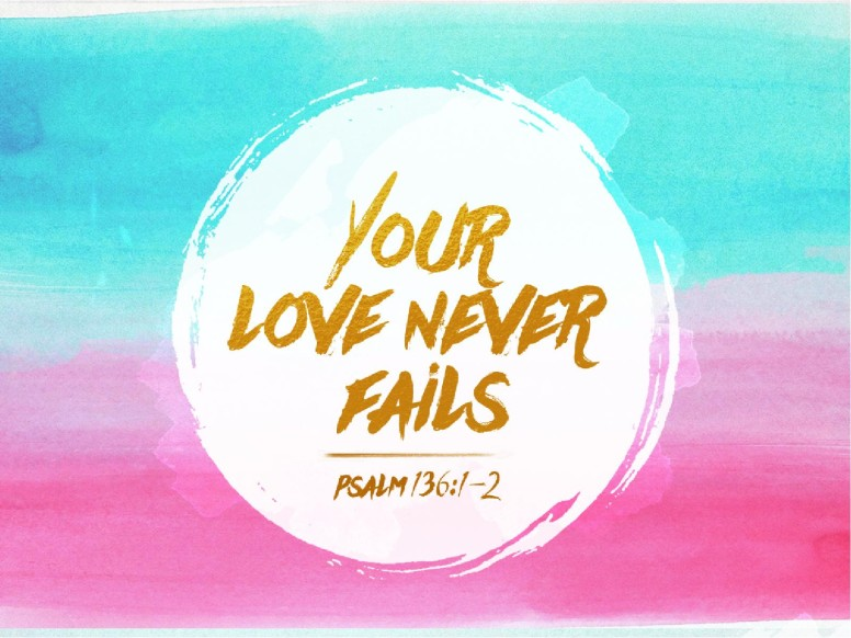 Love Your Wallpaper : Your Love Never Fails christian Wallpaper Background ...
