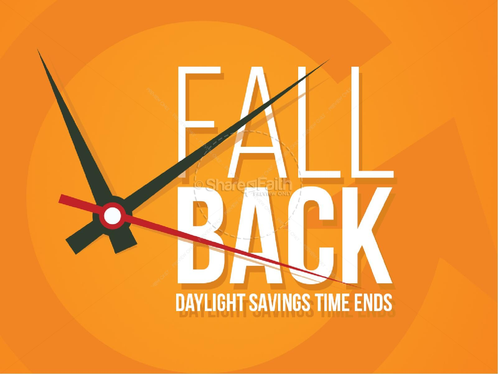 Fall Back Autumn Reminder Religious Powerpoint