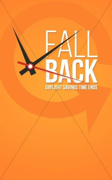 Fall Back Autumn Reminder Religious Bulletin
