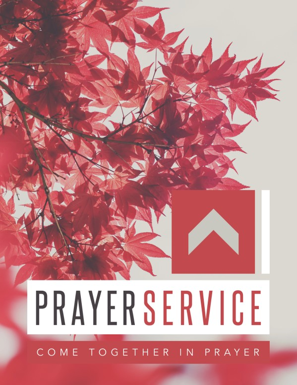 Prayer Service Ministry Flyer