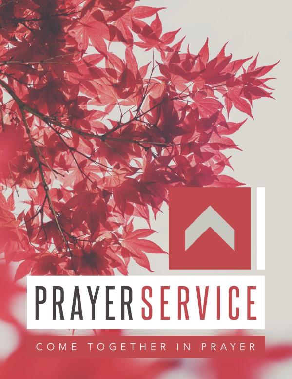 Prayer Service Ministry Flyer