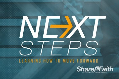 Next Steps Moving Forward Religious Background Video