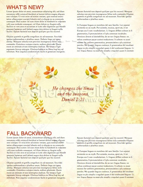 Fall Festival Family Fun Religious Newsletter