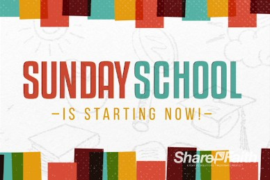 Sunday School is Starting Now Church Title Motion Video