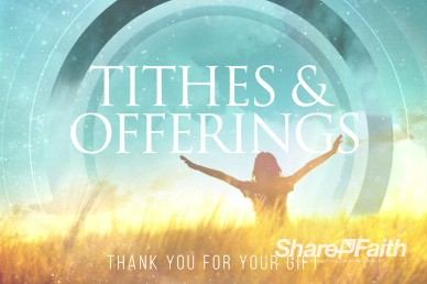 We Give You Thanks Christian Tithes and Offerings Motion Video