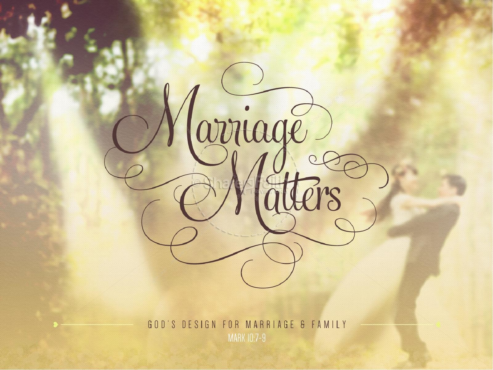 Marriage Matters Religious PowerPoint