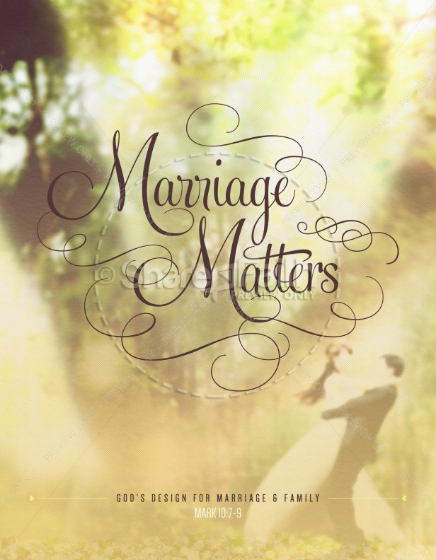 Marriage Matters Religious Flyer | page 1